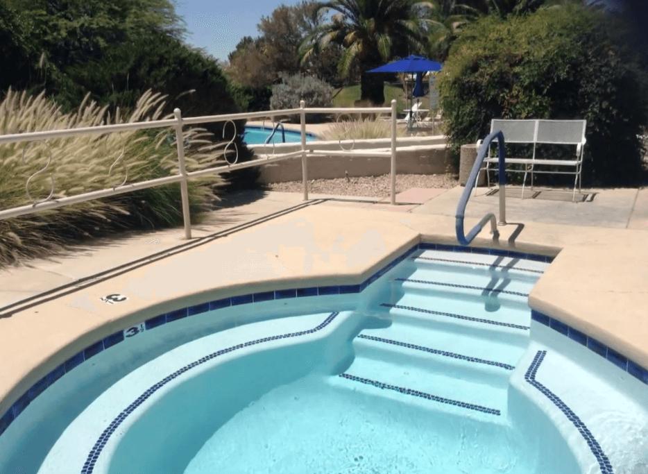 Desert Pueblo hot tub